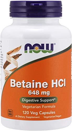 Betaine HCl 648 mg, 120 Veg Capsulas