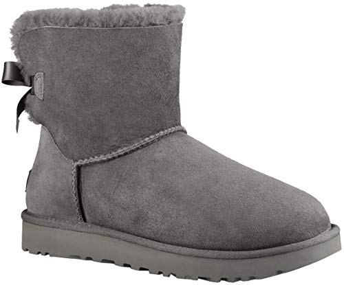 UGG Damen Mini Bailey Bow Ii Schlupfstiefel, Grau (Grey), 39 EU (6 UK)