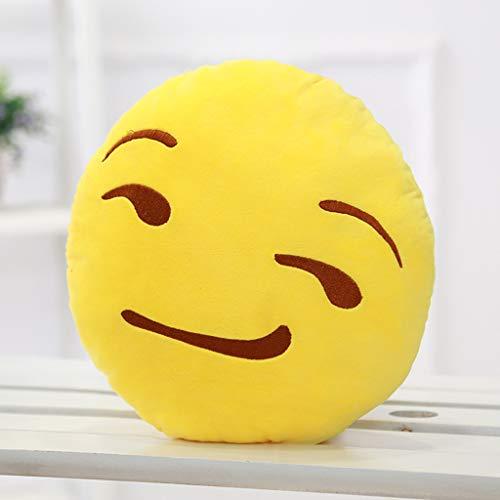 Rainbow Fox Emoticon Emoji Coussin d/écoratif en Peluche Emoji Jaune Jaune 4