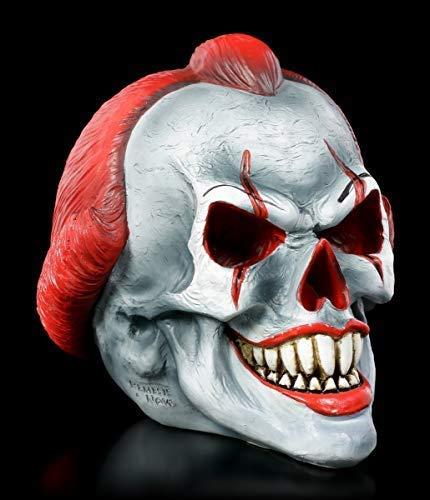 Figuren Shop GmbH Gothic Totenkopf Horror-Clown - Play Time | Fantasy Dekofigur, handbemalt