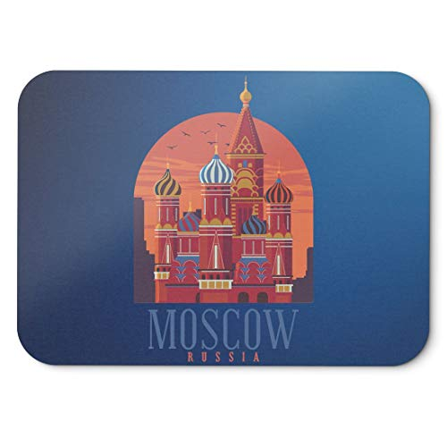 BLAK TEE Moscow Russia City View Mouse Pad 18 x 22 cm in 3 Colours Blue