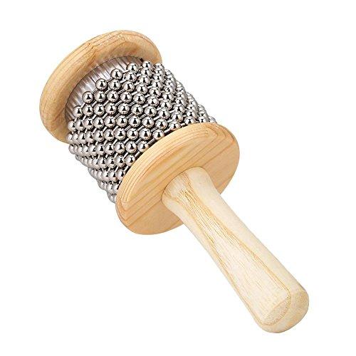 Alomejor Cabasa Instrument Hölzerner Cabasa Hand Shaker Schlaginstrument für Kinder Lernspielzeug