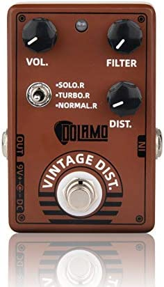 Dolamo Vintage Distortion Effect Pedal Classical Electronic Guitar Effect Pedal with 3 Way Selector product image