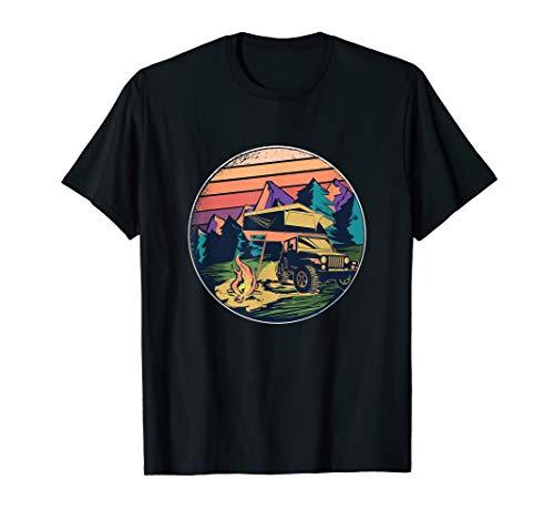 Dachzelt - Camping Campervan Outdoor Natur Abenteuer Camper T-Shirt
