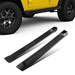 PERFECT FIT - This side step nerf bars running board is compatible with 2018-2020 Jeep Wrangler JL 4 Door. (Excl. JK Model, please check the mode before ordering. ) STURDY MATERIAL - Made from premium quality textured black ABS plastic that is sturdy...