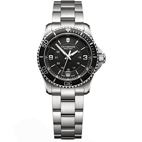 Victorinox - Reloj de Cuarzo Suizo para Mujer con Acero Inoxidable de Cuarzo analógico Maverick 241701
