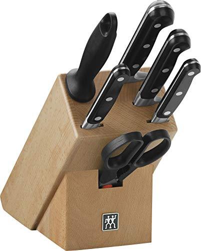 Zwilling 7 TLG. Messerblock Professional S Messer-Block Kochmesser Fleischmesser Küchenmesser