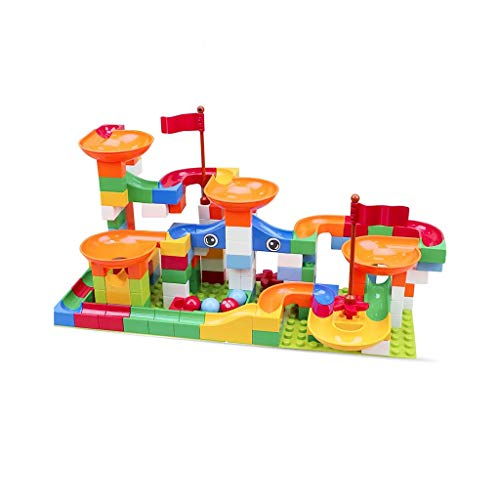 Find Bargain LIUFS-TOY Children's Toy Building Blocks Track Assembly Slide Early Educational Large P...