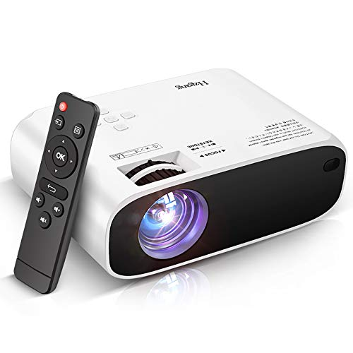 Mini Projector, V504 Portable LCD Video Projector Upgraded 5000 Lux, Full HD 1080P, Compatible with PS4/HDMI/USB/AV/SD/VGA for Home Theater Entertainment