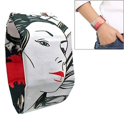 XKC-watches Herren- und Damenuhren, Geist Tanzen Mädchen Muster Kreative Mode Wasserdichte Papier Uhr Intelligente Papier Elektronische Armbanduhr