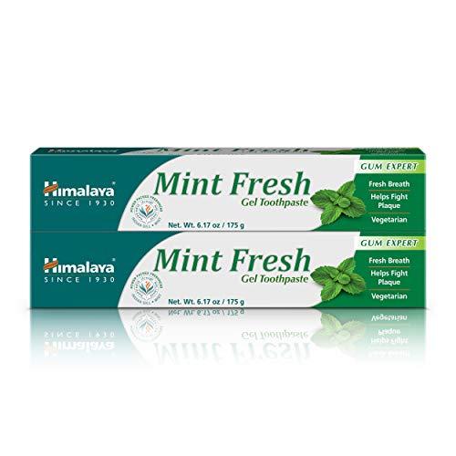 Himalaya Mint Fresh Gel Toothpaste, Fluoride Free to Reduce Plaque & Brighten Teeth, 6.17 oz, 2 Pack