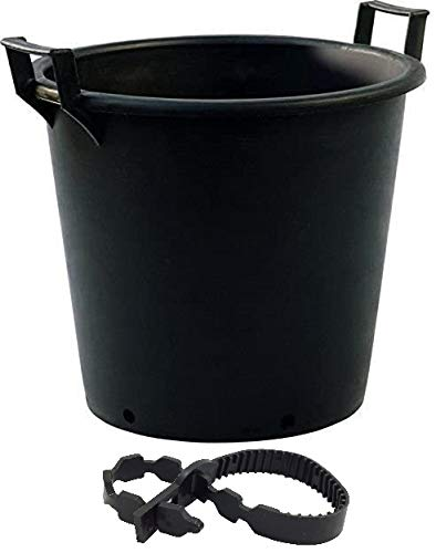 Large Size 130 Litre Plastic Plant Pot Outdoor Garden Tall Tree Planter Container (Comes with 1 x 40cm Soft Tree Tie)