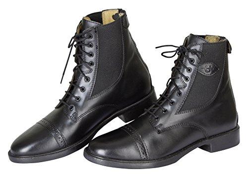 Kerbl Monaco buty sznurowane z gładkiej skóry, uniseks, czarny - Schwarz Schwarz 19 0303-44 EU