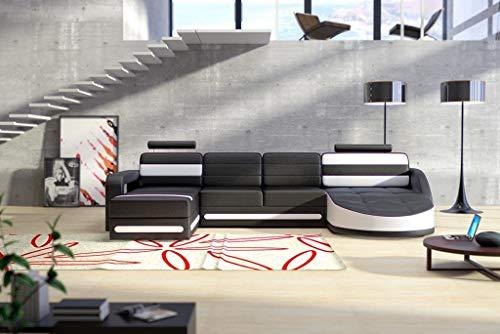 Designer Ledersofa Ecksofa Wohnlandschaft Couch Sofa Garnitur Neu Modell COLO 2