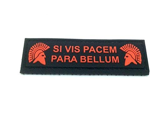 Patch Nation SI Vis Pacem para Bellum PVC Airsoft Paintball Klett Emblem Abzeichen (Schwarz)
