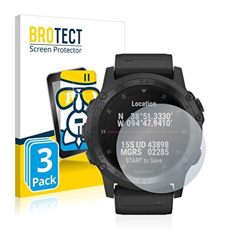 BROTECT Panzerglas Schutzfolie kompatibel mit Garmin D2 Charlie/Tactix Charlie (3 Stück) - AirGlass, 9H Härte, Anti-Fingerprint, HD-Clear