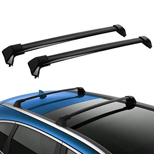 LED Kingdomus Roof Rack Crossbars Compatible for 2012-2016 Honda CR-V, Aluminum Cross Bars for Cargo Carrier Rooftop Luggage Bike Rack with Side Rails