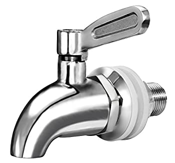 Updated More Durable Beverage Dispenser Replacement Spigot,Stainless Steel Polished Finished Water Dispenser Replacement Faucet fits Berkey and other Gravity Filter systems as well