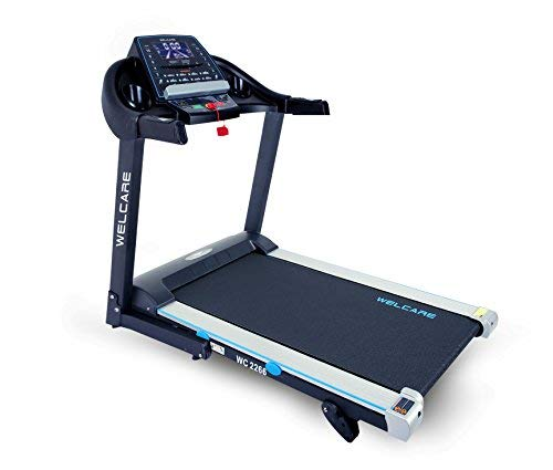 WELCARE WC2266, 4 Hp Peak DC Motorized Folding Treadmill with LCD Display, 12 Preset Programs to Improve Cardiovascular Fitness (Free Installation & Demo)