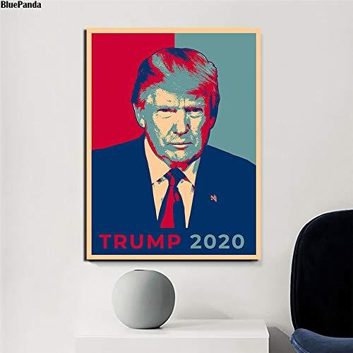 Leinwandmalerei Präsident Präsidentschaftswahl Abstimmung 2020 Donald Trump Vintage Poster Gemälde Auf Leinwand Schlafzimmer Wandkunst Bilder Home Decor 50x70cm