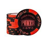 100 pz Poker Chip Set per Texas Holdem, Blackjack, Gioco D'Azzardo, Fiches da Bingo Colorate da 1,5 Pollici 14g