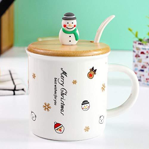 YXYLQ 2020Christmas Schneemann Keramikbecher 3D Weihnachtspuppe Stirnband Tasse Mit Deckel Löffel Porzellan Weihnachtsbecher Großhandel-02_Style
