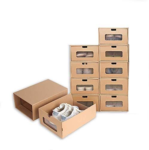 6PACK SHOETS SHOETS ARMANGE Organizador de Almacenamiento, Caja de Zapatos a Prueba de Agua, con Tapas y Ventana Transparente para Zapatos Organizador 12x8.2x4.7 Pulgadas (Color : Brown)