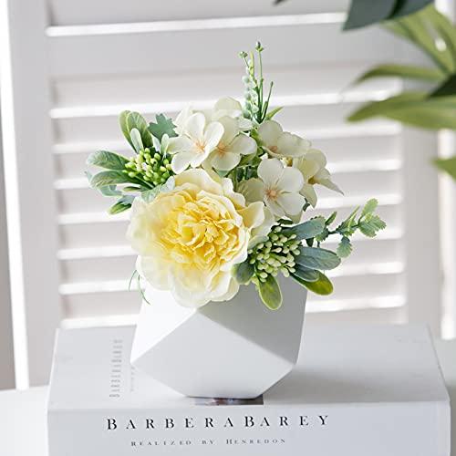 Baixtuo Plantas Artificiales Decorativas Interior,Flores Artificiales Decoracion Jarrones,Maceta Creativa,Decoración del...