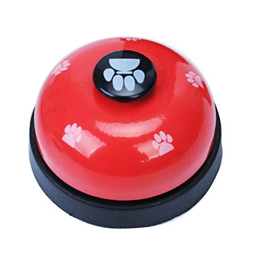 1PC Hundetraining Bell-Welpen-Haustier-Trainings-Bell-Hund Katze Türklingel Klar Ring Sagen Glocke Mit Anti-Rutsch Gummiunterseite Kommunikationsgerät Für Ihr Haustier (Rot)
