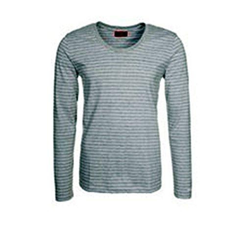 HUGO - T-Shirt à Manches Longues - Homme Gris Clair