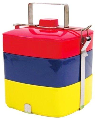 Primal Designs お弁当箱 3段 ピクニックスクエアボックス パッケージ付 国旗 コロンブス 3200ml