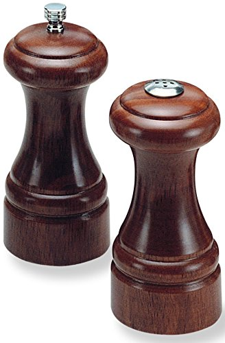 "Olde Thompson 5.25"" Statesman Wood Pepper Mill and Salt Shaker Set"