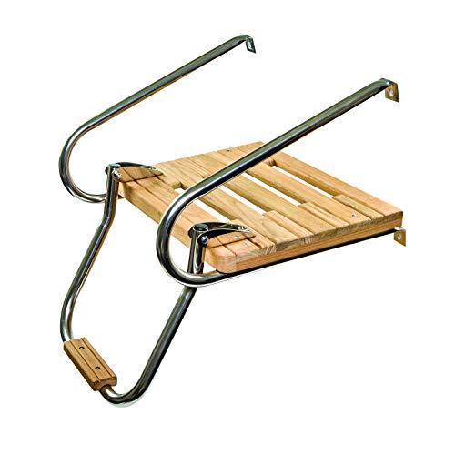 Whitecap 60903 Teak Swim Platform w/Ladder for Boats with Inboard/Outboard Motors