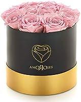 Amoroses 12 Rose Stabilizzate Vere durano Anni - Idea Regalo Originale per Donna, per Compleanno, Laurea e Altre...