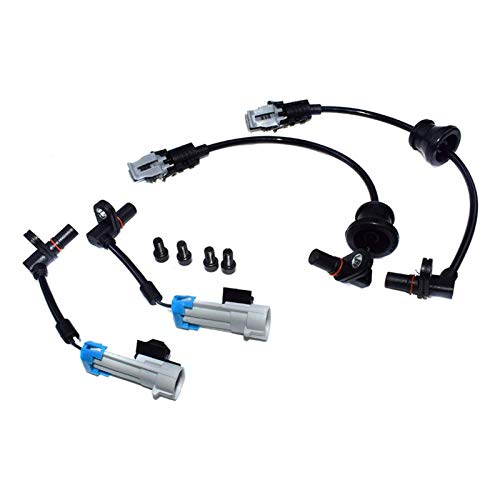 XIAOFANG Novel-Nome Conjunto Trasero Delantero Sensor de Velocidad de la Rueda ABS Ajuste para Chevrolet Captiva Equinox Pontiac Saturno 96626078 96626080 (Color : Black)