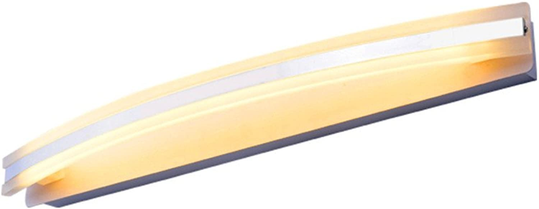 Amadoierly Spiegel Frontleuchte Nordic Modernen Minimalistischen Mode Led Bad Wandleuchte Anti-Fog Wasserdicht Acryl Badspiegel Lampe, 38  4 cm
