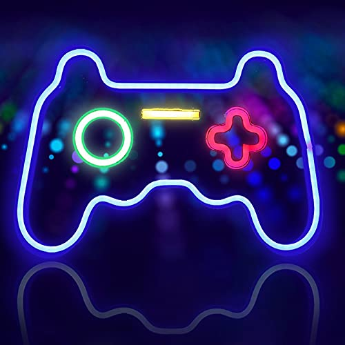 OFOCASE Gaming LED Neon Light Signs, Gaming USB Neon Luce Insegne for Wall Gaming Room, Gioco Hanging for Camera letto Store Party parete Decoration Regalo festa Natale compleanno