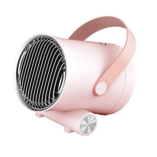 SEESEE.U Lüfterheizung Tragbare Keramik-Raumheizung mit Einstellbarer Tat und Überhitzungsschutz Persönliche elektrische Heizung für Home-Office-Schreibtisch Küche Schlafzimmer und Wohnheim rosa