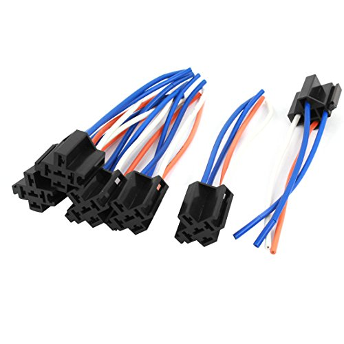 uxcell Auto Alarm Relay Harness Wire Cable 4 Pin Socket Connector 6 Pcs