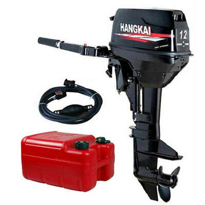 TBVECHI 12HP 2Stroke Outboard Boat Motors Boat Engine, CE, Water Cooling, CDI Ignition System, Short Shaft (2Stroke 12HP Water Cooling CDI)