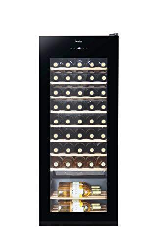 Haier WS50GA Weinkühlschrank / 50 Flaschen / 127 cm Höhe / UV-Schutz / LED-Display zur Temperatureinstellung / Innenbeleuchtung