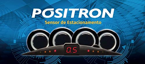 sensor de estacionamento 4 sensores - ps220 - positron (preto)