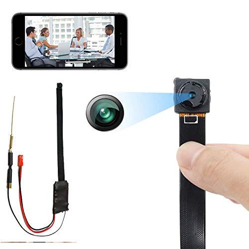 Cámaras Espía 1080P WiFi Full HD Mini Cámara Vigilancia Niñera Mascotas Deportes Garaje IR Visión Nocturna 150ºGran Angular Detección de Movimiento Video Remoto Android y iOS