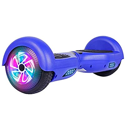 "Felimoda Hoverboard UL 2272 Certified Flash Wheel 6.5"" with LED Light Self Balancing Wheel Electric Scooter (Blue)"