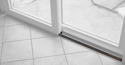 Einbruchsicherung Stahlschutz für Terrassen und Schiebetüren Länge 185 cm