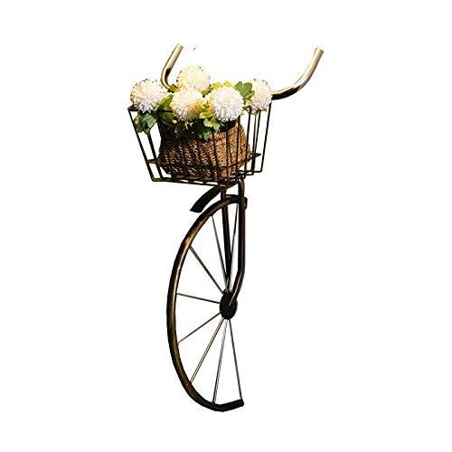 LSCZQ antieke creatieve fiets vorm wanddecoratie met mandje, weerbestendig koper metaal materiaal, elegant en persoonlijkheid fiets voorzijde decoratieve muur