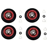 8536974 Dryer Drum Support Roller, Replaces 8536974 8536973 W10314171 WPW10314173 PS11752609, Replacement for Whirlpool, Kenmore, Maytag (Pack of 4)