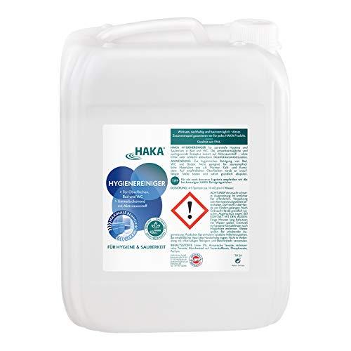 HAKA Hygienereiniger I 10 l Nachfüllkanister I Reiniger für Küche, Bad und Haushalt I Reinigung für WC, Kühlschrank und Böden