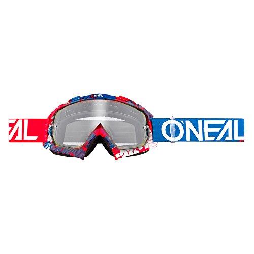 O'NEAL B10 Pixel Goggle Goggle MX DH Brille rot/blau/klar Oneal