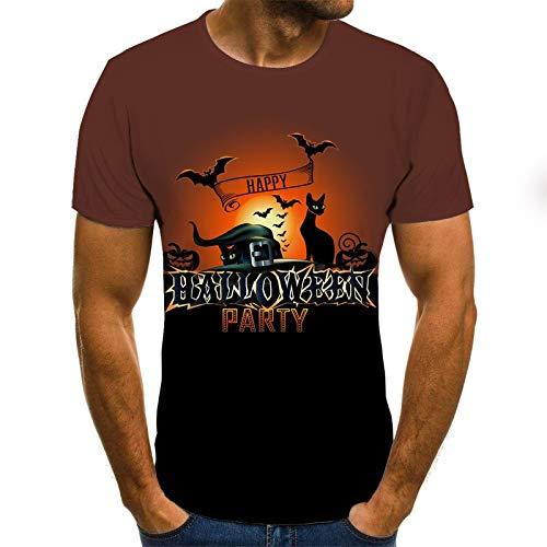 T Shirt Men Clothes Mens Summer Skull Print Men Short Sleeve T-Shirt 3D Print T Shirt Casual Breathable Funny T Shirts XXL Txu-1231